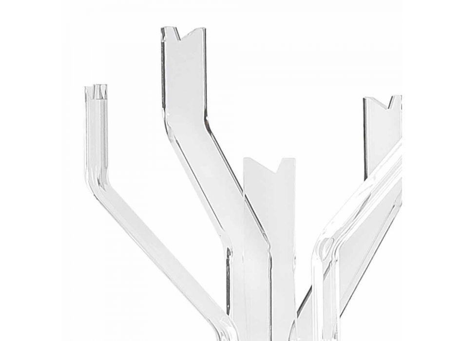 Appendiabiti da terra trasparente a 5 ganci Andrea, design moderno