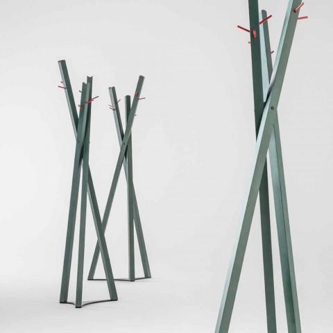 Appendiabiti in Frassino Massello con Pioli in Metallo Made in Italy - Bienna