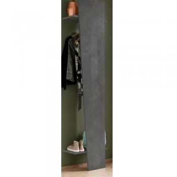 Appendiabiti in Legno Bianco Lucido o Ardesia dal Design Obliquo - Joris