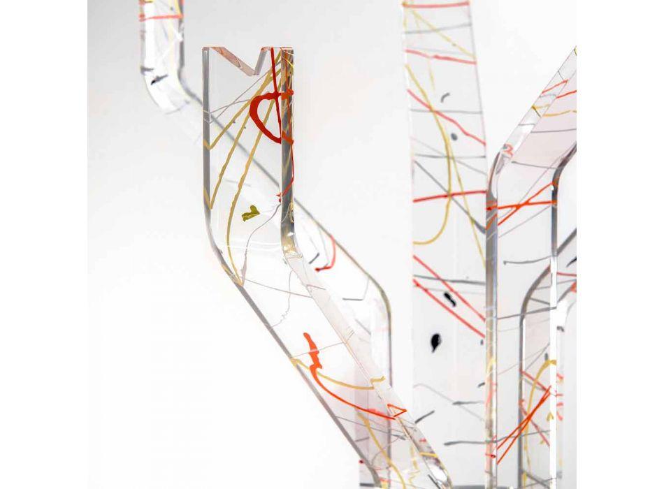 Appendiabiti moderno da terra multicolor fatto in Italia, Andrea