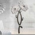 Appendiabito da parete di design decorato a mano in argento Clarke