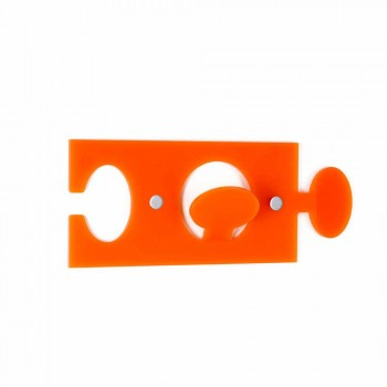 Appendini da Parete in Plexiglass Colorato Design Singolo 4 Pezzi - Fratack
