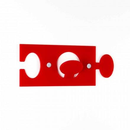 Appendini da Parete in Plexiglass Colorato Design Moderno 4 Pezzi - Fratack