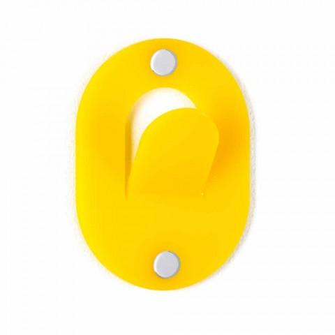 Appendino da Parete in Plexiglass Colorato 5 Pezzi Design a Clip - Freddie
