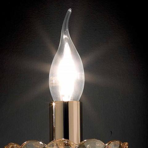 Applique a 2 luci design classico in cristallo e vetro Belle