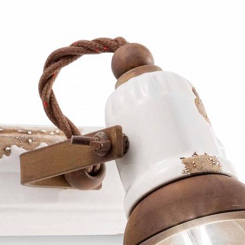 Applique a due faretti orientabili Amelia Ferroluce artigianale