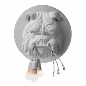 Applique a Muro a 3 Luci in Ceramica Grigia o Bianca Design Moderno - Dogbull
