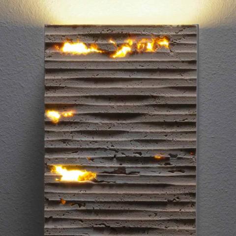 Applique a muro in pietra e metallo Serafini Marmi Pedra made in Italy