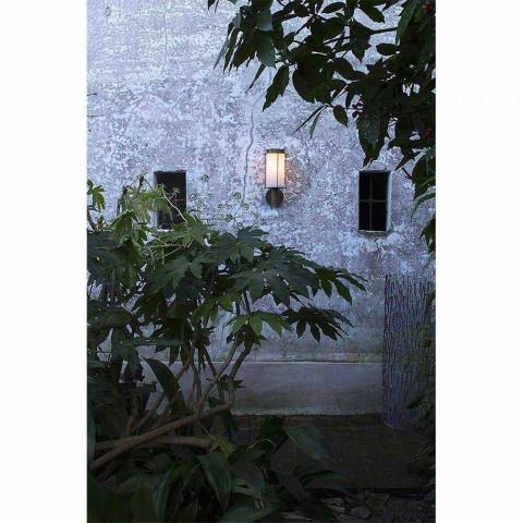 Applique a Parete da Esterno in Ottone e Vetro Bianco - Loggia by Il Fanale