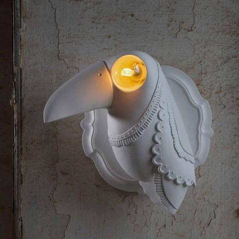 Applique a Parete in Ceramica Bianca Opaca Design Moderno Italiano - Tucano