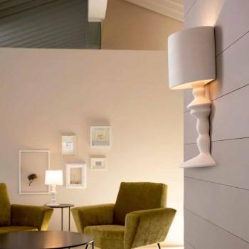 Applique a Parete in Ceramica Verniciabile con Paralume Design Moderno - Cadabra