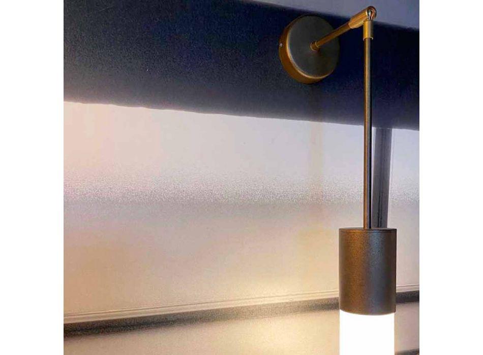 Applique Artigianale in Alluminio e Vetro Satinato Made in Italy - Master