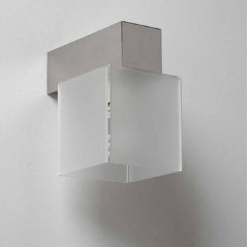 Applique con paralume design moderno,L.11 x P.11cm,Matis