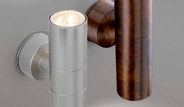 Applique da esterno a doppia emissione abarth di aldo bernardi