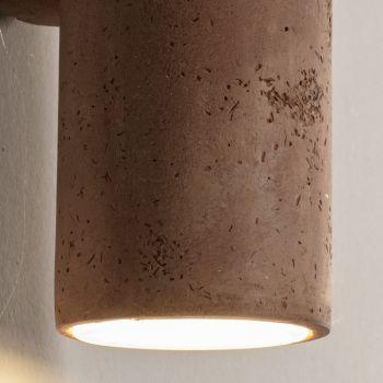 Applique da Esterno in Argilla Colorata e PMMA Made in Italy - Toscot Hans