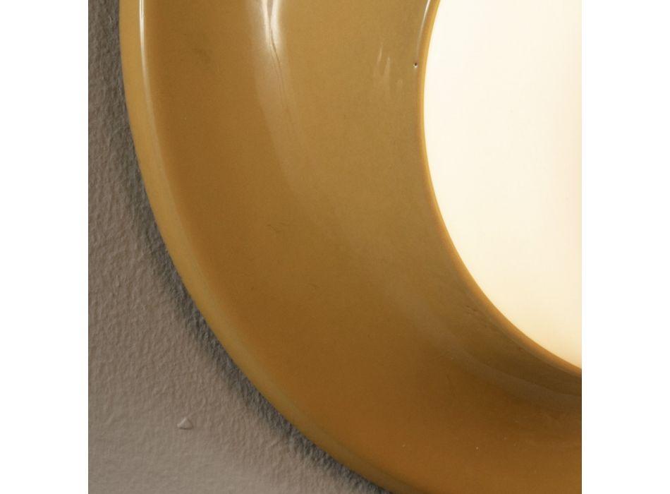 Applique da Esterno in Maiolica e Vetro Soffiato Made in Italy - Toscot Swinger
