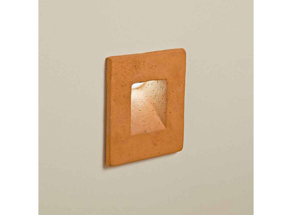 Applique da esterno quadrata, in terracotta colorata Square - Toscot