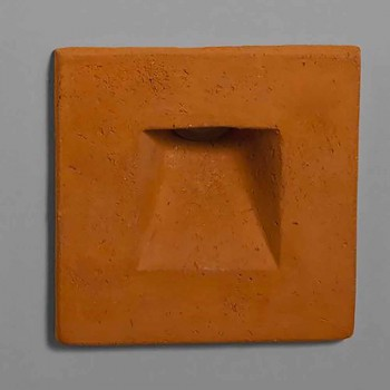 Applique da esterno quadrata, in terracotta colorata Square - Toscot