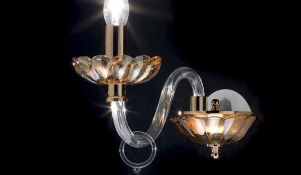 Applique da parete design classico in cristallo e vetro belle pezzi