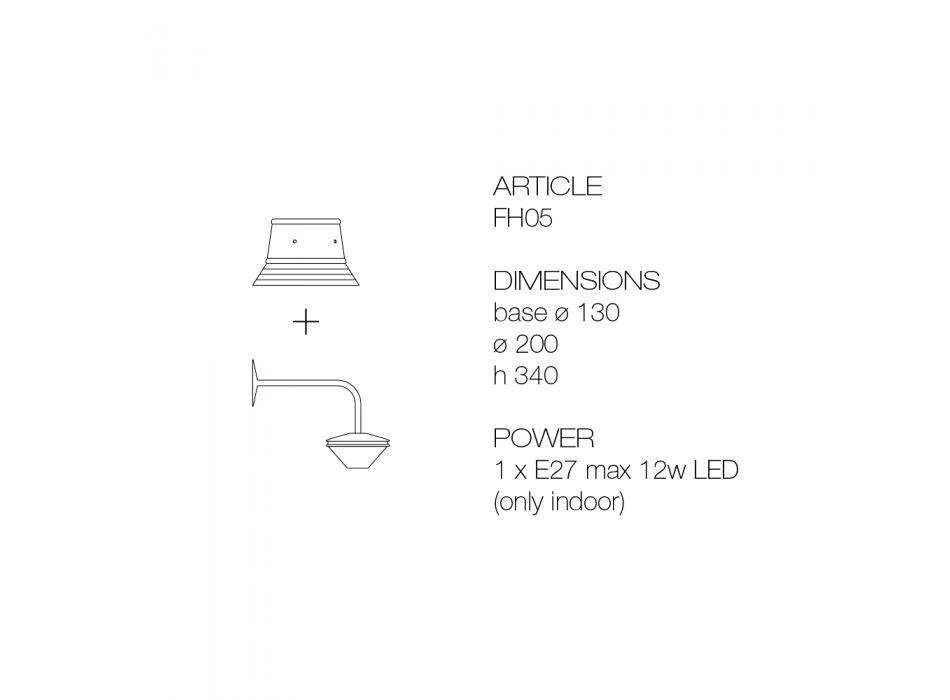 Applique da Parete in Alluminio e Poliestere Made in Italy - Toscot Junction