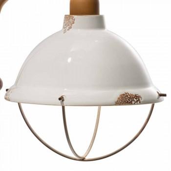 Applique da parete in ceramica e metallo Skyler stile industriale