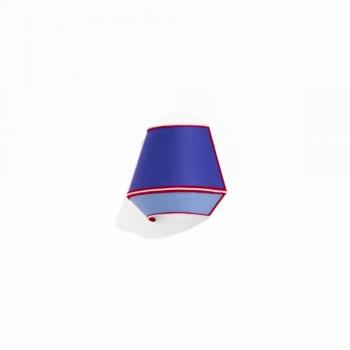 Applique Design in Cotone Blu con Dettagli Rossi e Bianchi Made in Italy - Soya