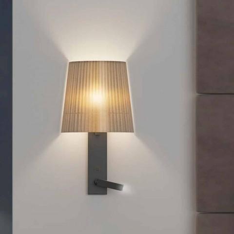Applique di Design con Struttura in Metallo Nero e Organza Made in Italy - Boom