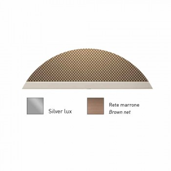 Applique di Design in Metallo Finitura Silver o Bianco Made in Italy - Jump