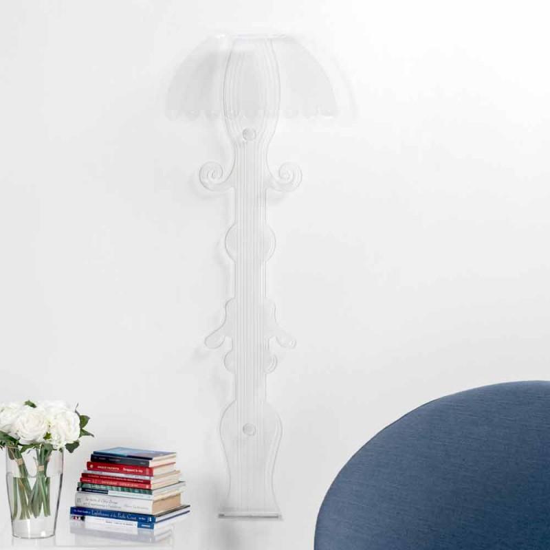 Applique di design in plexiglass trasparente prodotta in Italia,Scilla