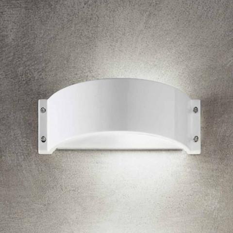 Applique in gres ceramico bianco Glamour di Aldo Bernardi