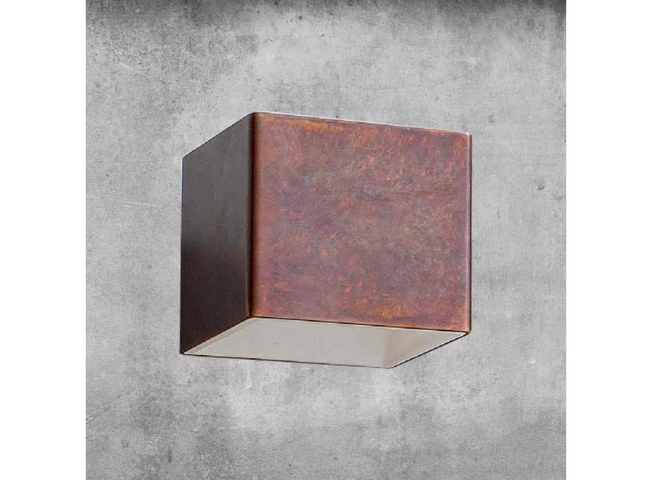 Applique in Ottone e Gesso Made in Italy - Cubetto Aldo Bernardi