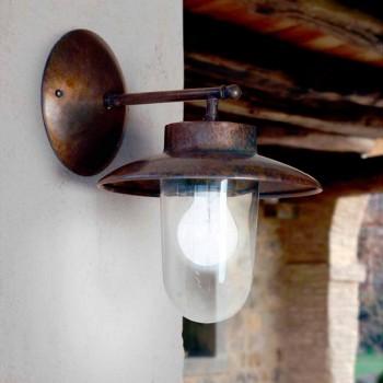 Applique La Traviata in rame, vetro e ottone anticato