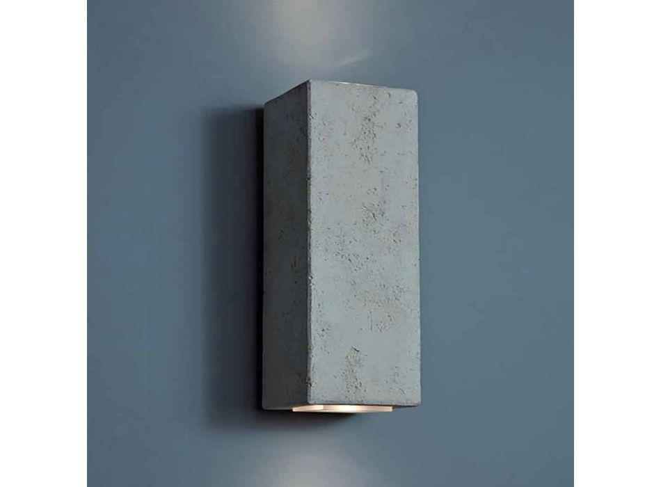 Applique LED da esterno in terracotta design H 24 cm Smith - Toscot