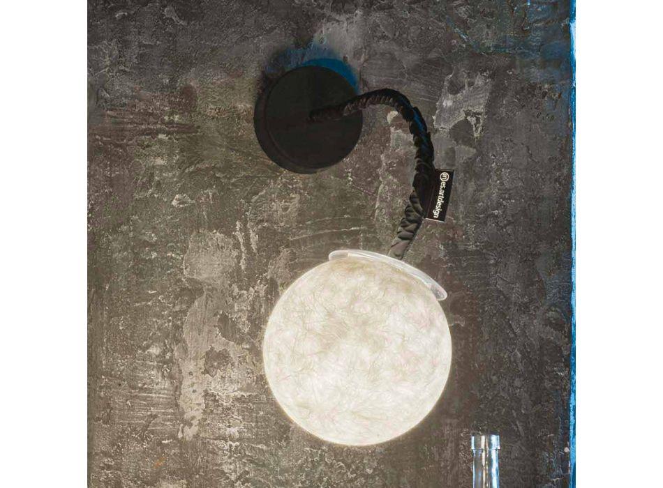 Applique moderna a muro In-es.artdesign Micro Luna Applique in nebulite