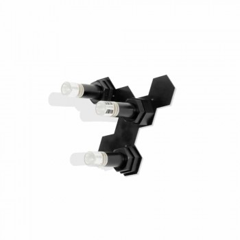 Applique Moderna in Metallo Nero Opaco e Plexiglass Made in Italy - Dalbo