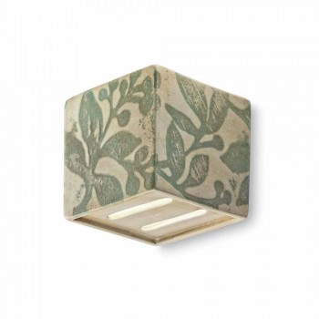 Applique vintage a forma di cubo in ceramica Connie Ferroluce