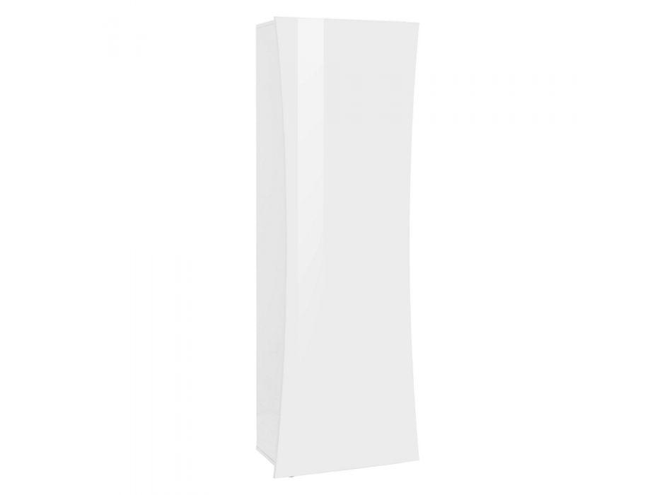 Armadio da Ingresso a Parete Legno Bianco Design ad Arco 1 Anta - Sabine
