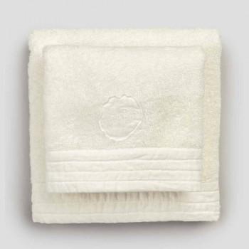 Asciugamani Viso e Ospite in Spugna e Bordo Misto Lino 2 Colori, 2 Pezzi - Kilim
