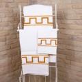 Asciugamano d'Arte Stampato a Mano in Cotone Pezzo Unico Artigianale Italiano