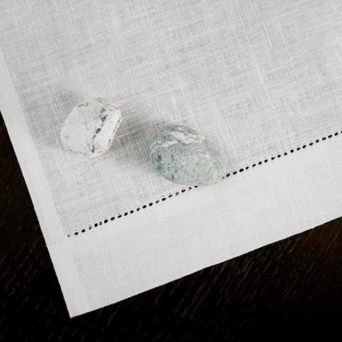Asciugamano da Bagno in Lino Bianco o Naturale Made in Italy – Chiana