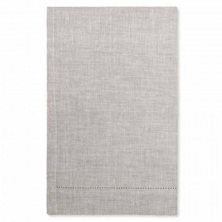 Asciugamano da Bagno in Lino Bianco o Naturale Made in Italy, 2 Pezzi– Chiana
