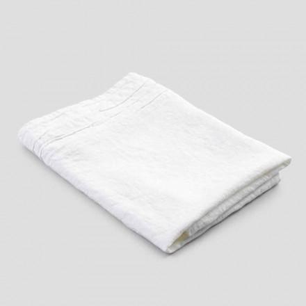 Asciugamano da Bagno in Lino Pesante Bianco Lusso Italiano Artigianale - Jojoba