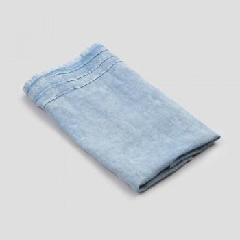Asciugamano da Viso in Lino Pesante Azzurro Design di Lusso Italiano - Jojoba