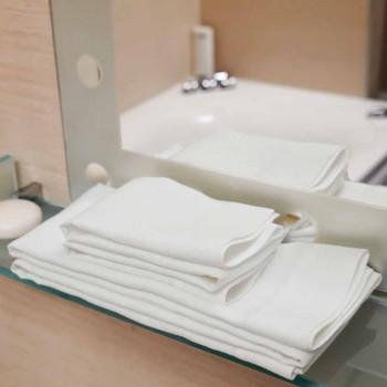 Asciugamano di Lino per Bagno Bianco Panna o Naturale Made in Italy – Blessy