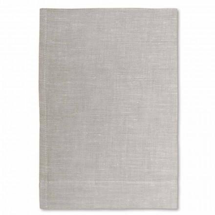 Asciugamano di Lino per Bagno Bianco o Naturale Made in Italy, 2 Pezzi – Blessy