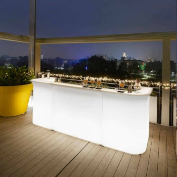 Bancone bar angolare Slide Break Corner luminoso moderno made in Italy