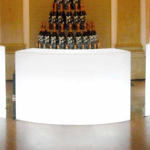 Bancone bar luminoso modulare per giardino Slide Snack Bar