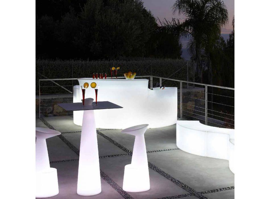 Bancone bar luminoso Slide Break Bar stile moderno fatto in Italia