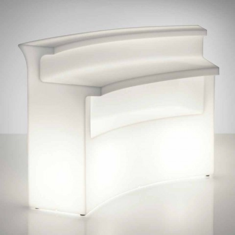 Bancone bar luminoso Slide Break Bar stile moderno fatto in Italia