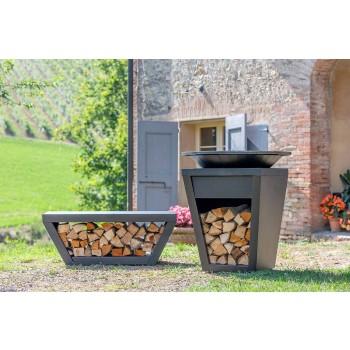 Barbecue a Legna con Piastra Cottura e Vano Porta Legna - Ferran